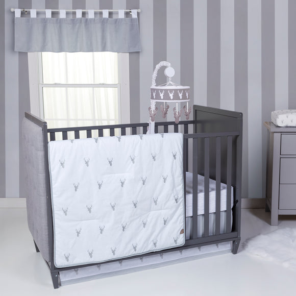 Stag Head Crib Bedding Set