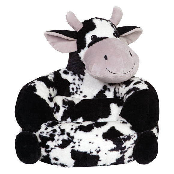 Children's Plush Cow Print Chair