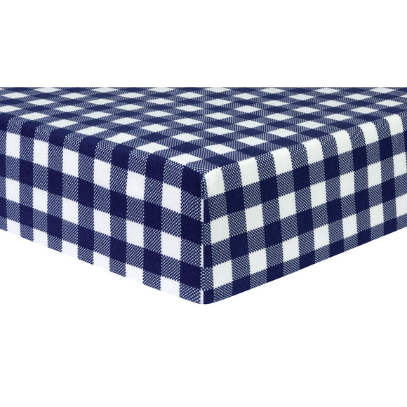 Navy Buffalo Check Crib Sheet