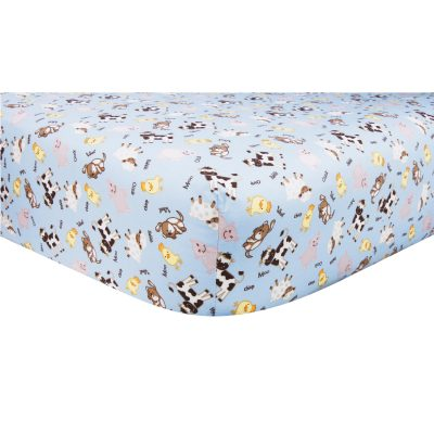 Barnyard Theme Crib Sheet