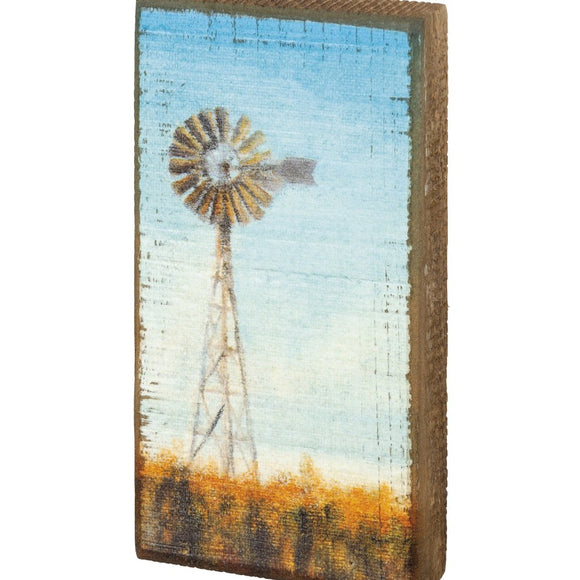 Windmill Wooden Box Sign