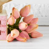 real touch pink tulip