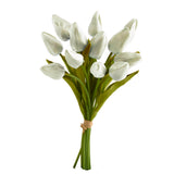 real touch white tulip