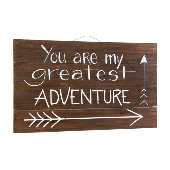 You Are My Greatest Adventure Wooden Pallet Sign