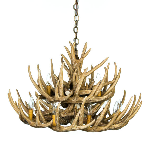 Whitetail Deer 21 Antler Chandelier