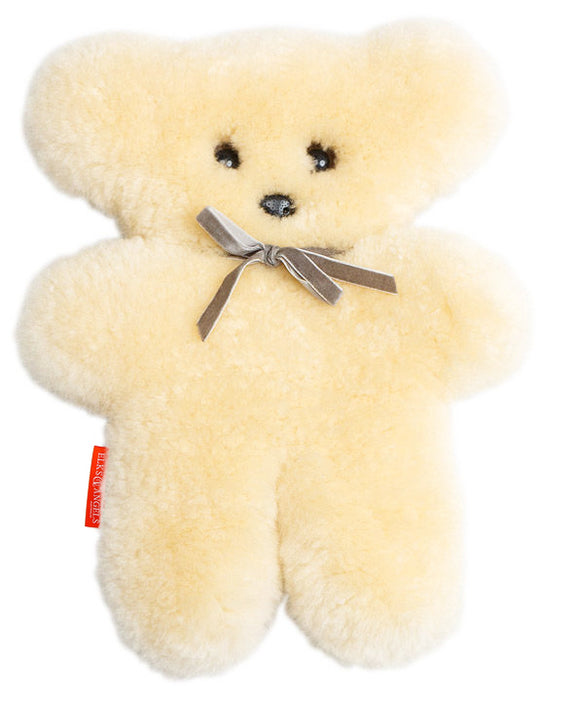 Sheepskin Cuddle Buttermilk Teddy Bear