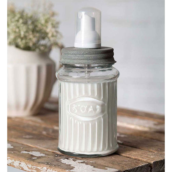 Glass Jar Foaming Soap Dispenser