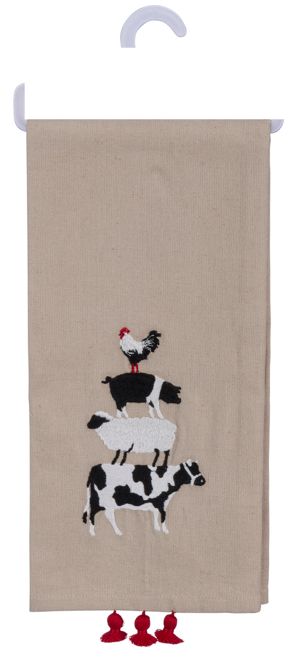 Farm Animal Stack Dish Towel