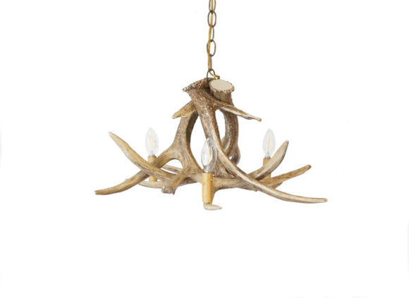 Whitetail Deer 3 Antler Chandelier