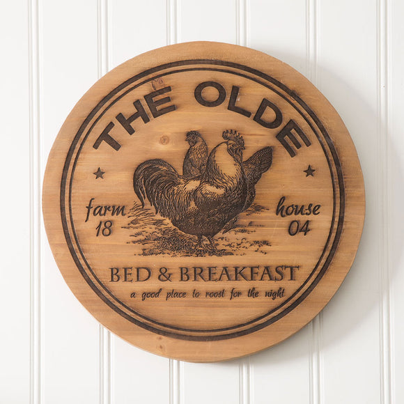 The Olde Farmhouse Wooden Lazy Susan
