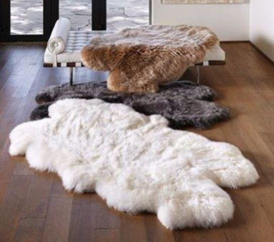 Four Pelt Sheepskin Rug