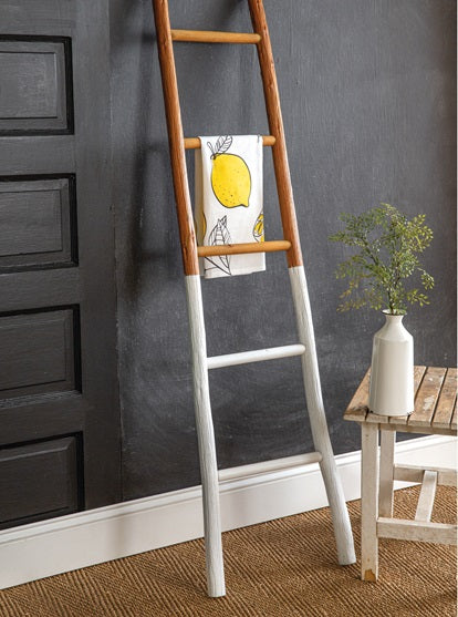 Two Tone Decorative Wooden Ladder