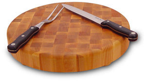 Round End Grain Cutting Board- 17""
