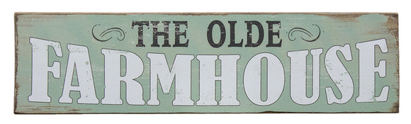 Olde Farmhouse Wooden Wall Sign
