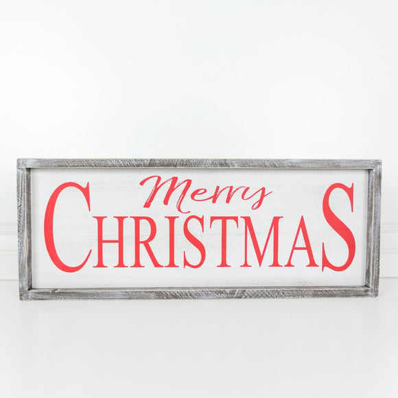 Merry Christmas Wooden Sign Decoration