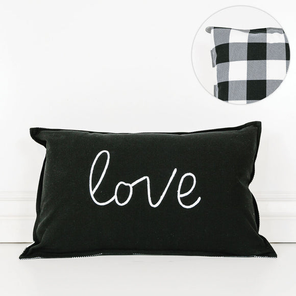 Black and White Love Pillow