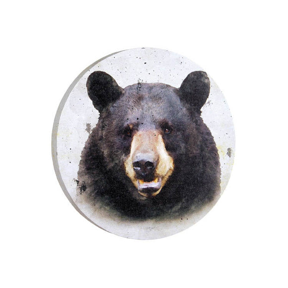Round Canvas Bear Print