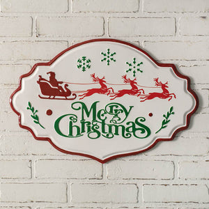 Merry Christmas Metal Wall Sign
