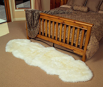 Two Pelt Sheepskin Rug