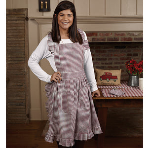 Red and White Check apron