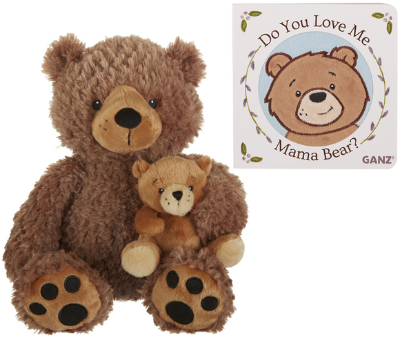 Mama and Baby Bear with Book Gift Set