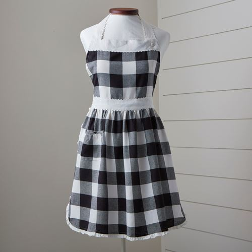 Black and White Check Apron