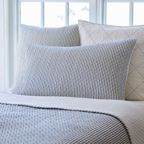Black and White Striped King Pillow Sham