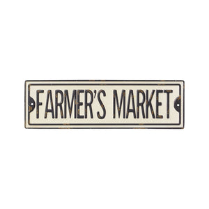 Farmers Market Metal Street Sign