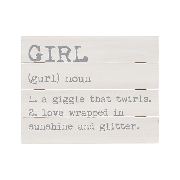 Girl Definition Wooden Pallet Sign