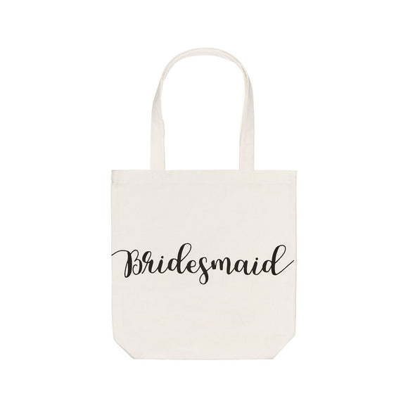 White Bridesmaid Tote