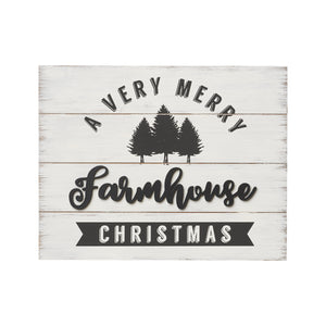 "Wooden Pallet Sign ""A Very Merry Farmhouse Christmas"""
