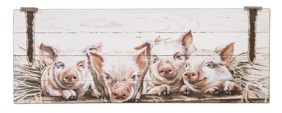 Painted Pig Wall Plaque