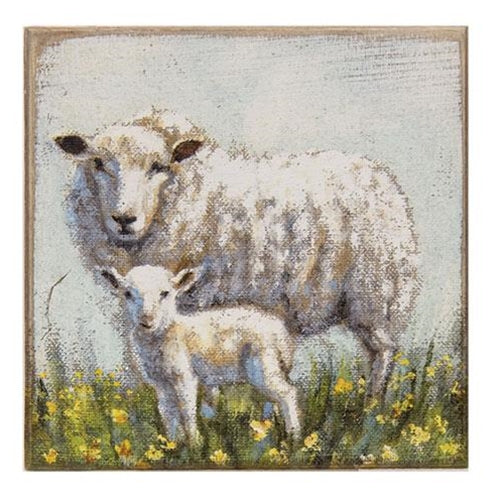 Sheep and Lamb wooden Block