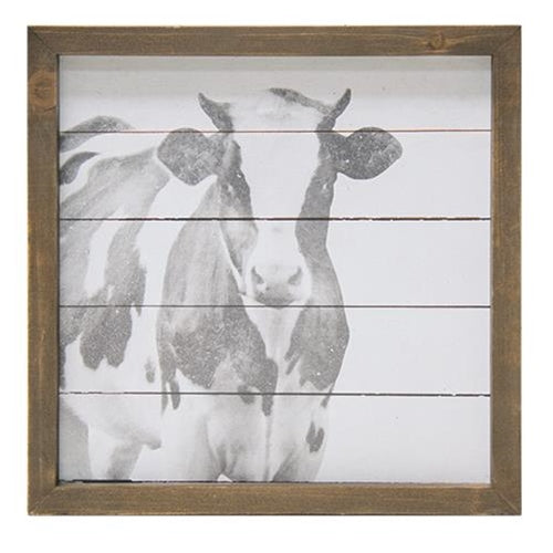 Black and White Cow Wall Art Small