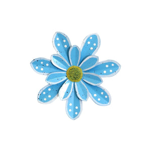 Hand Painted Turquoise Daisy Magnet