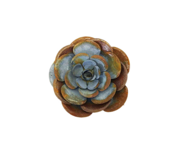 Gray Zinc and Rust Rose Magnet