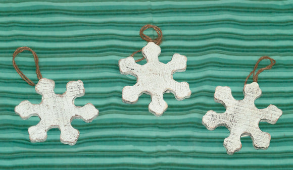 Distressed Wooden Snowflake