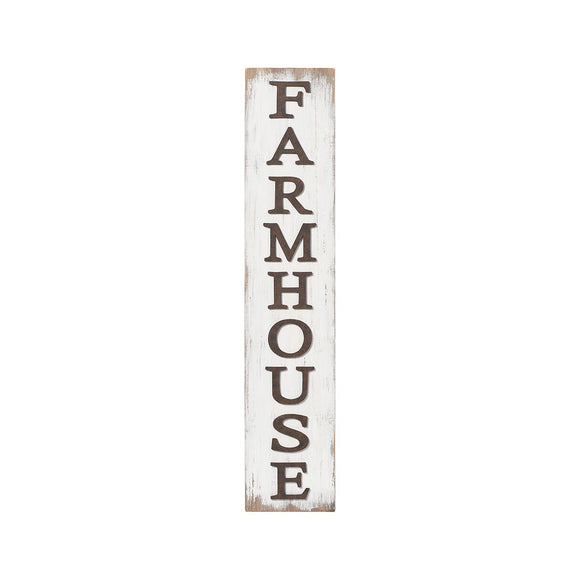 Farmhouse White Wooden Leaner