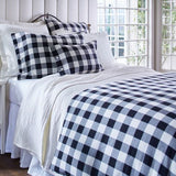 Black and White Buffalo Check Duvet