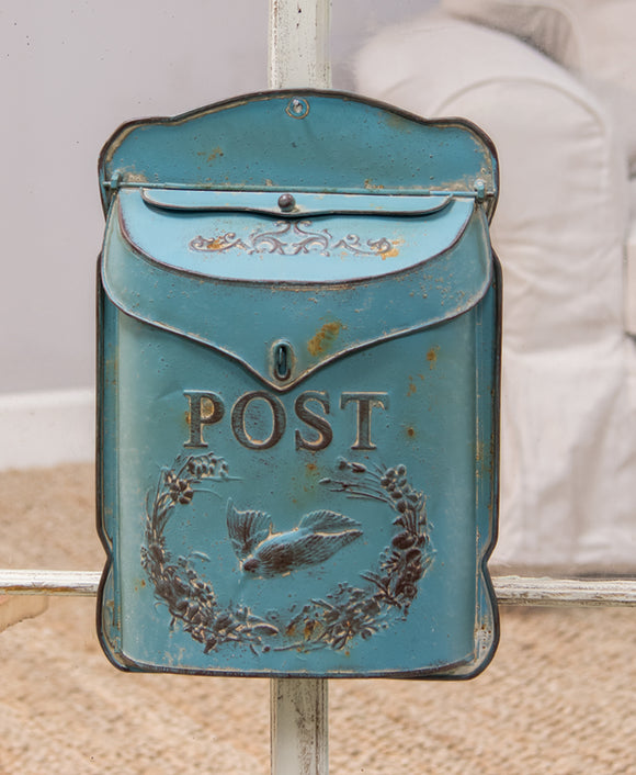 Distressed Blue Post Box