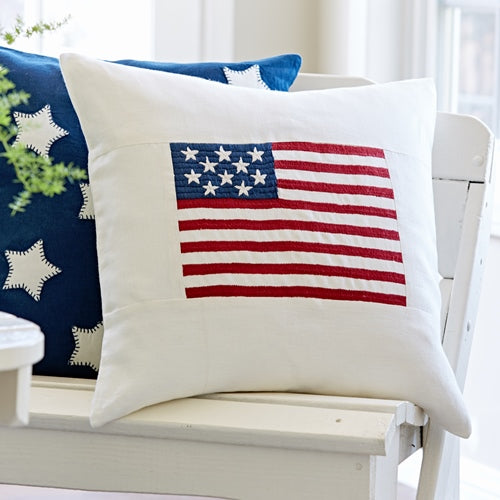 White Flag Porch Pillow