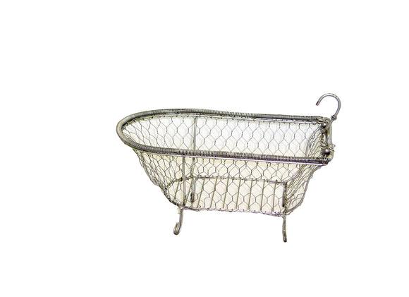 wire tub soap dish in the shape of a vintage tub