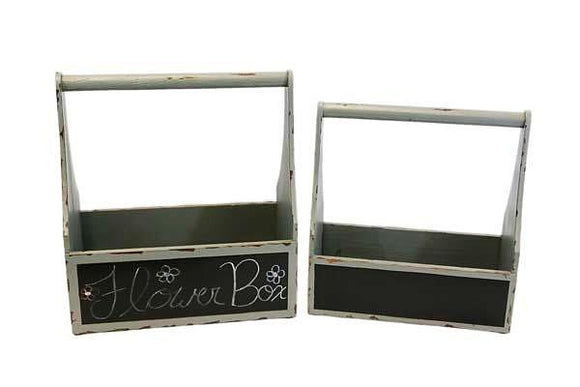 Slate Gray and Chalkboard Storage Caddy