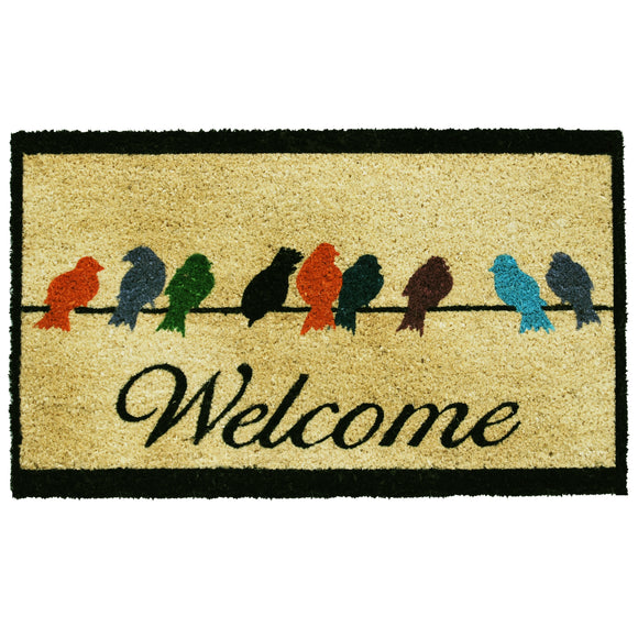 Birds On A Wire Doormat