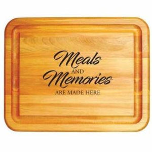 Meals and Memories Made Here Cutting Board