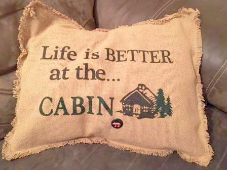 Burlap Pillow Cover