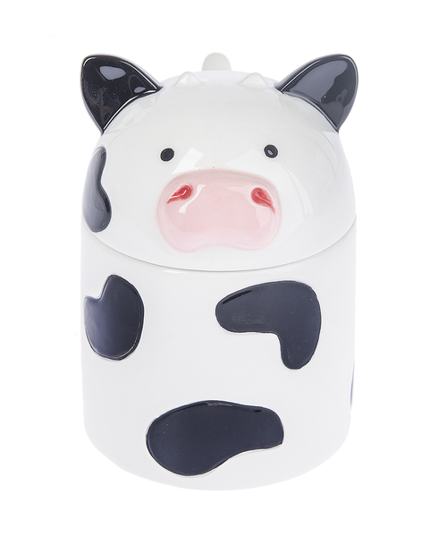 Cow Jar With Spoon