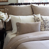 Brown And Cream Striped Duvet, Farmhouse Style