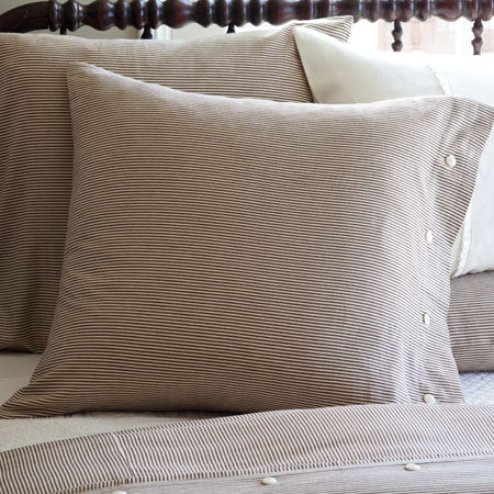Farmhouse Pinstripe Euro Pillowcase