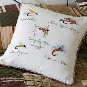 Fishing Flies Throw Pillow
